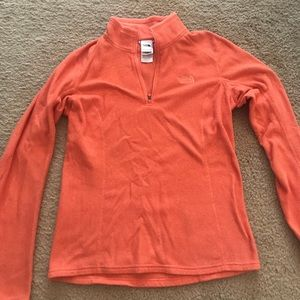 The North Face Fleece Orange Quarter Zip sz XS